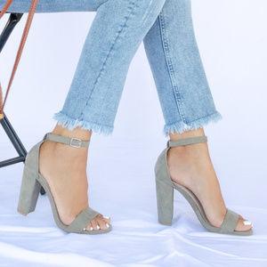 Girls Trip - Khaki Ankle Strap Heels